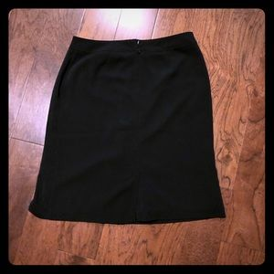 Simple black work skirt for an office job